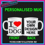 I LOVE HEART MY DOG PET COFFEE MUG GIFT